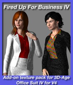 Fired Up For Business IV - texture add on for 3D-Age Office Suit IV for V4.