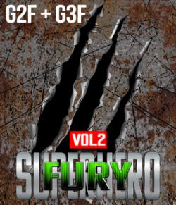 SuperHero Fury for G2F and G3F Volume 2