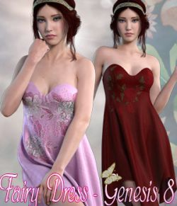 dForce Fairy Dress - Genesis 8