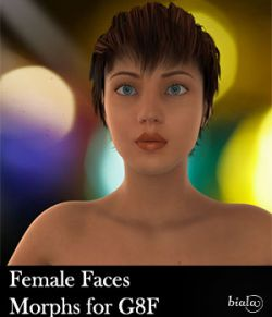 Female Faces Morphs for Genesis 8 Female