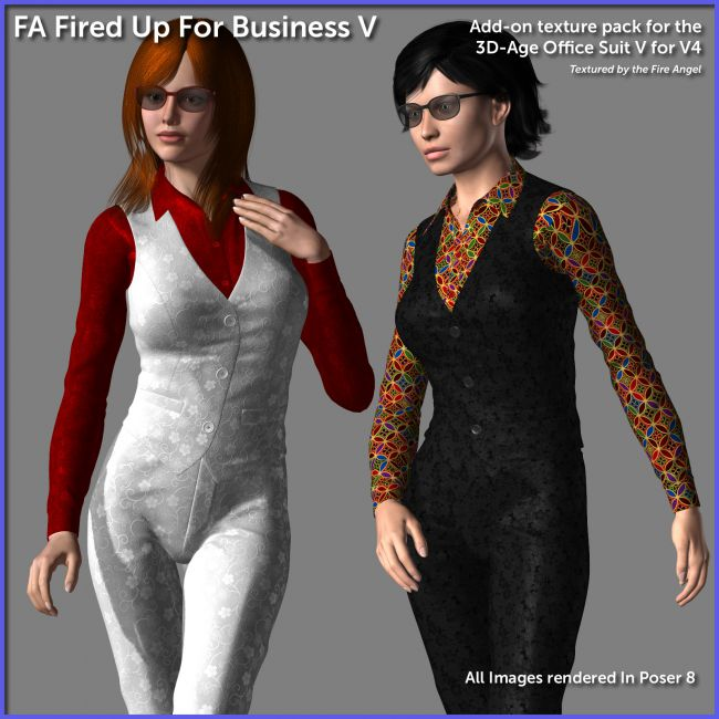Fired Up For Business V - texture add on for 3D-Age Office Suit V for V4.