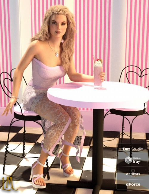 dForce Hanky Dress Set for Genesis 8 Female(s)