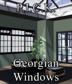 P.I.C.K. Georgian Windows Exp Set for Poser