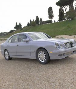 Mercedes Benz E-320 2000 3ds and obj - Extended License