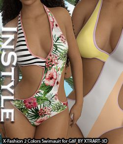 InStyle- X-Fashion 2Colors Swimsuit for Genesis 8 Females