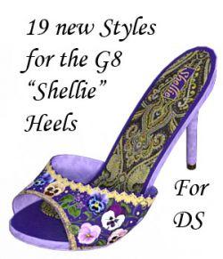 Painted Shellie Heels