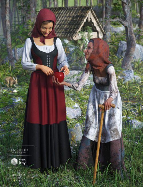 dForce Peasant Dress Textures