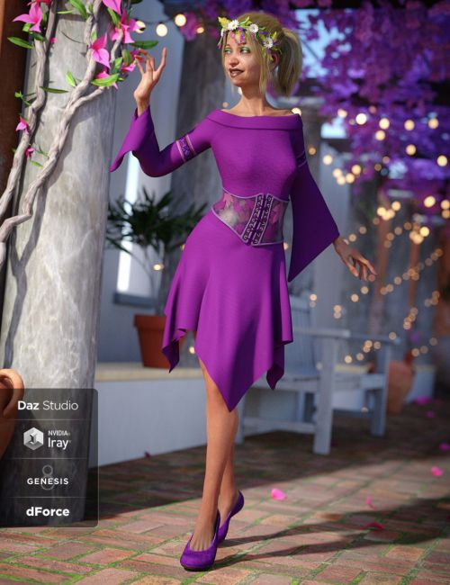 dForce Woodland Spirit Outfit for Genesis 8 Female(s)