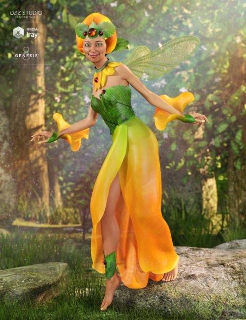 dForce Morning Bloom Outfit for Genesis 8 Female(s)