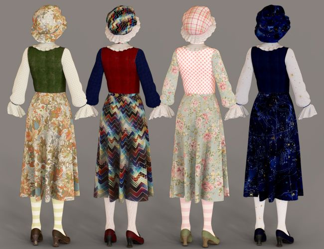 dForce Mother Goose Outfit Textures