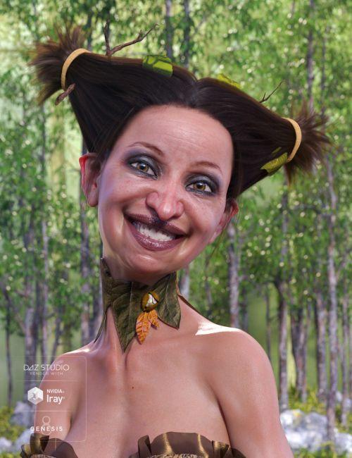 Fantasy Woodland Hair for Genesis 8 Female(s)