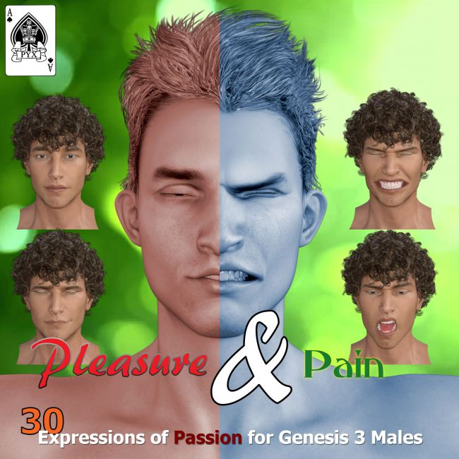 Pleasure and Pain - Expressions for Genesis 3 Male