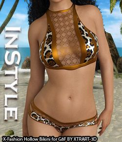 InStyle- X-Fashion Hollow Bikini for Genesis 8 Females