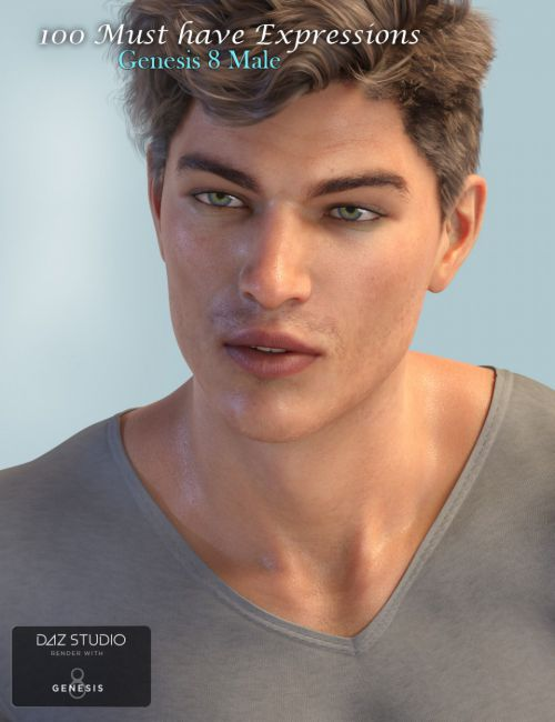 100 Must Have Expressions for Genesis 8 Male(s)