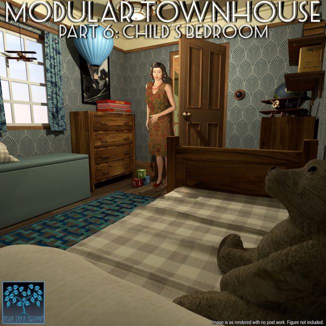 Modular Townhouse 6: Child's Bedroom for Poser