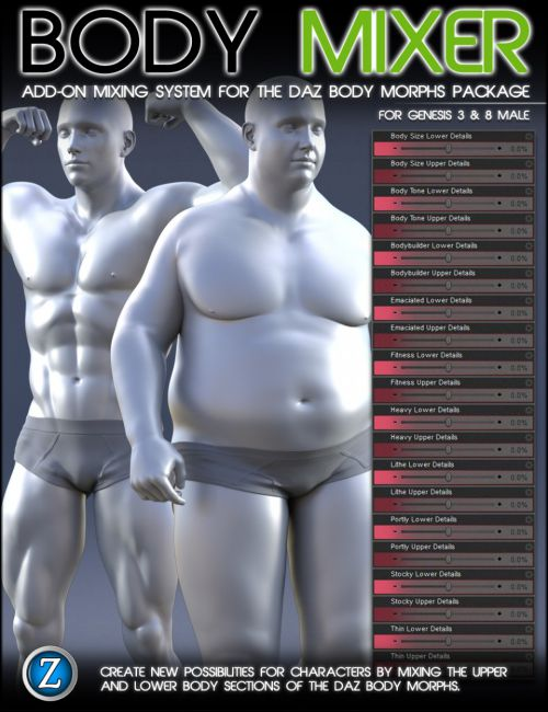 Body Mixer for Genesis 3 and 8 Male