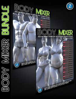 Body Mixer Bundle for Genesis 3 and 8 Male and Female