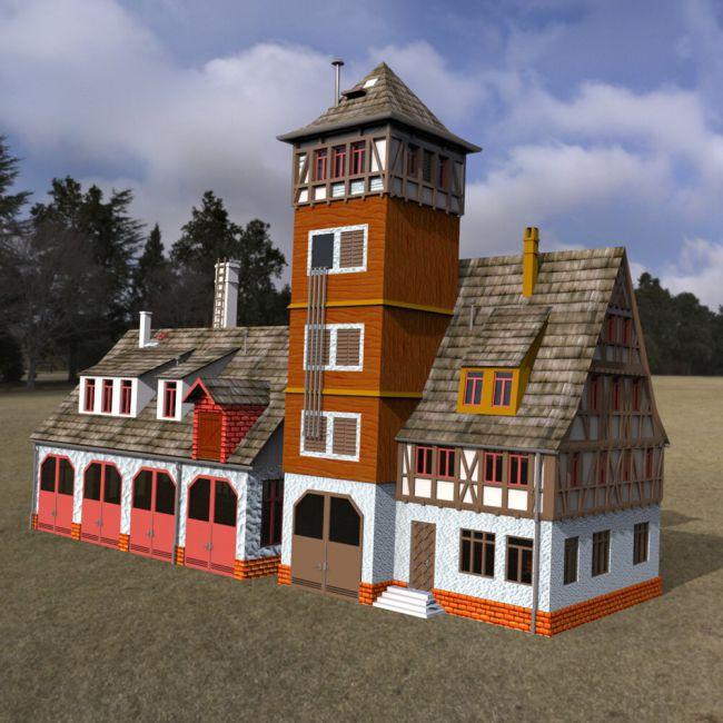 Fire Station - for DAZ Studio