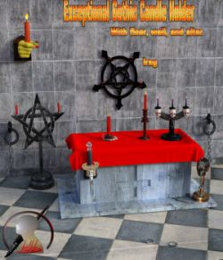 Exceptional Gothic Candle Holder scene for Daz3d Iray