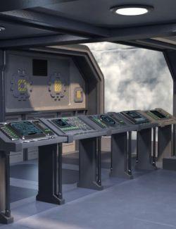 Sci-fi Computer Room