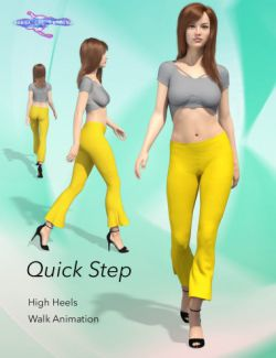 Quick Step Walk Cycle for Genesis 8 Female(s)