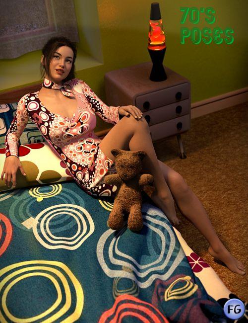 FG 70's Room Poses for Genesis 8 Female