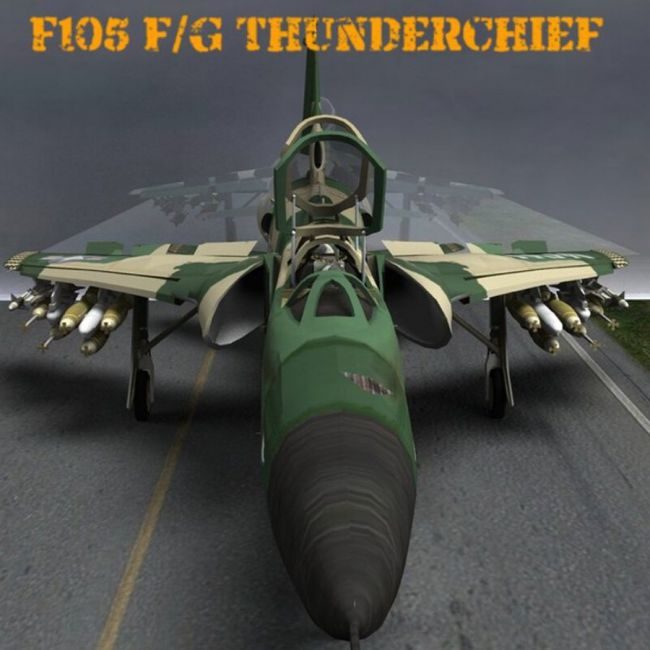 F105F/G Thunderchief - for Poser