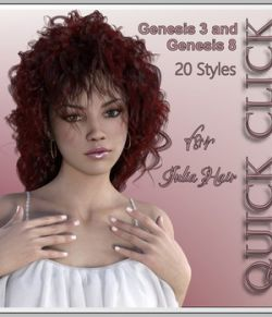 Quick-Click JuliaHair G3F and G8F