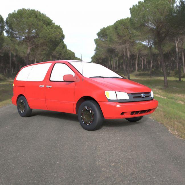 Toyota Sienna 2000 for 3ds  obj - Extended License