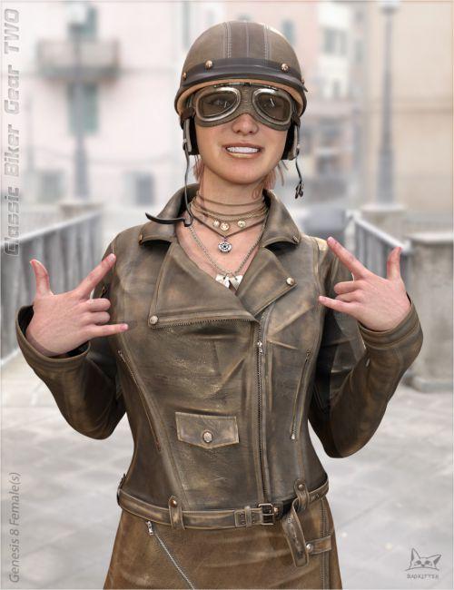 Classic Biker Gear TWO for Genesis 8 Female(s)