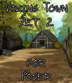 Viking Town: Set 2 - for Poser