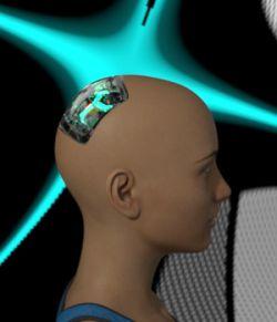 Cybernetic Head for Genesis 8 Females 2