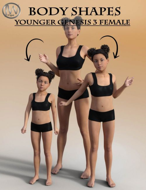 Body Shapes: Younger Genesis 3 Female