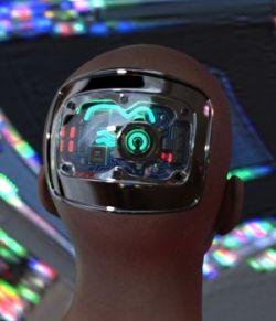 Cybernetic Head for Genesis 8 Males 2