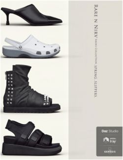 Rare n Nirv Shoes Collection 2 for Genesis 8 Female(s)