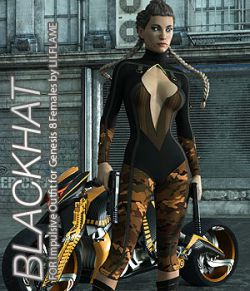 BLACKHAT- Impulsive Outfit for Genesis 8 Females