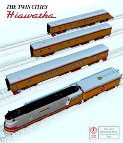 HIAWATHA TRAIN OBJ FBX- EXTENDED LICENSE