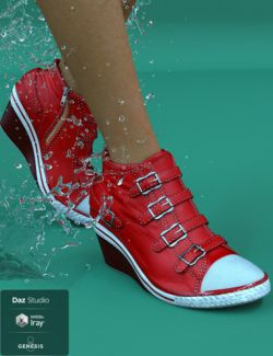 Wedge Sneakers for Genesis 8 Female(s)