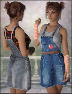 dForce Denim Skirt Textures