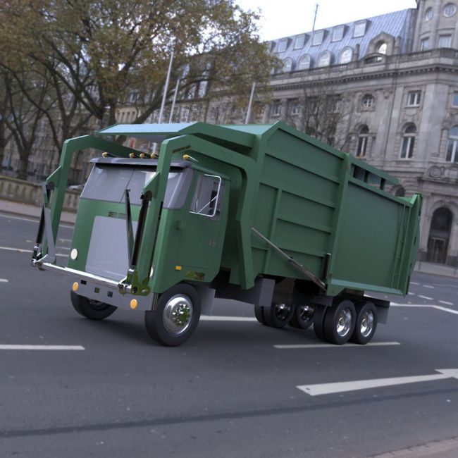 Garbage Truck 2 - 3ds / obj - Extended License