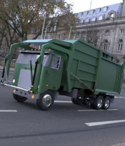 Garbage Truck 2 - 3ds / obj - Extended License