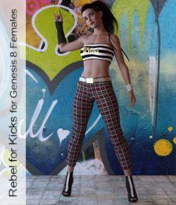 Rebel for Kicks - Outfit for Genesis 8 Females Daz Studio