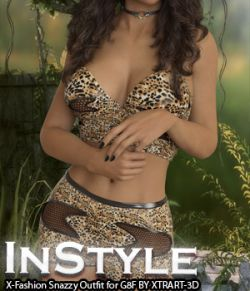InStyle- X-Fashion Snazzy Outfit for Genesis 8 Female