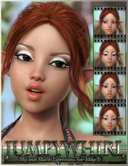Jumpywhirl Mix and Match Expressions for Mika 8 And Genesis 8 Female(s)