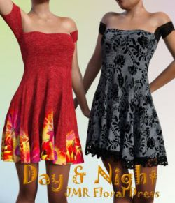 Day and Night for JMR Floral Dress by JaMaRe