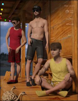 dForce Boys in the Sun Outfit for Genesis 8 Male(s)