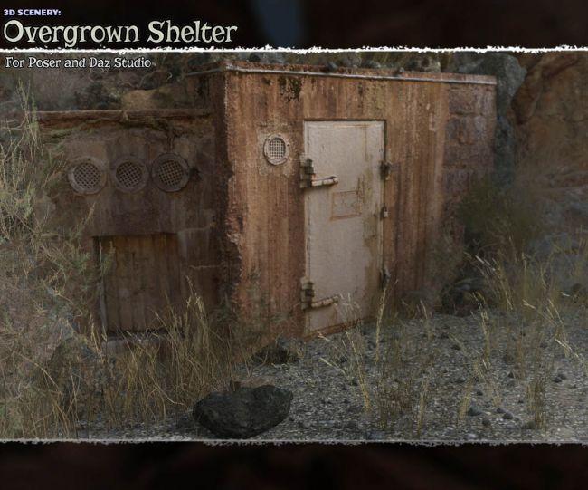 3D Scenery: Overgrown Shelter