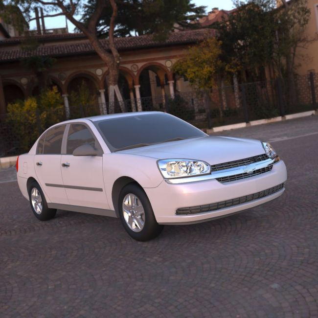 Chevrolet Malibu 2005 - 3ds and obj - Extended License