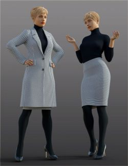 H&C Overcoat Outfit for Genesis 8 Female(s)