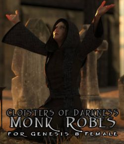 Cloisters of Darkness: Monk Robes for Genesis 8 Female